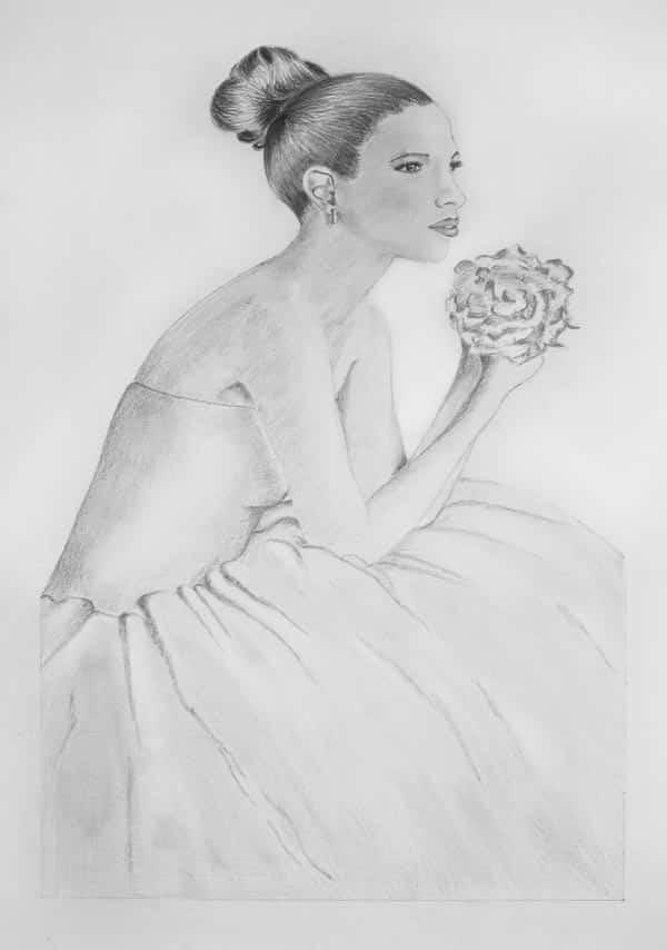 Vestidos de novia dibujos a lapiz