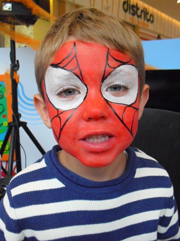 Pintacaras - Spiderman - Rio Shopping - lápiz creativo