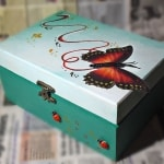 Regalos navideños - caja de madera - lápiz creativo