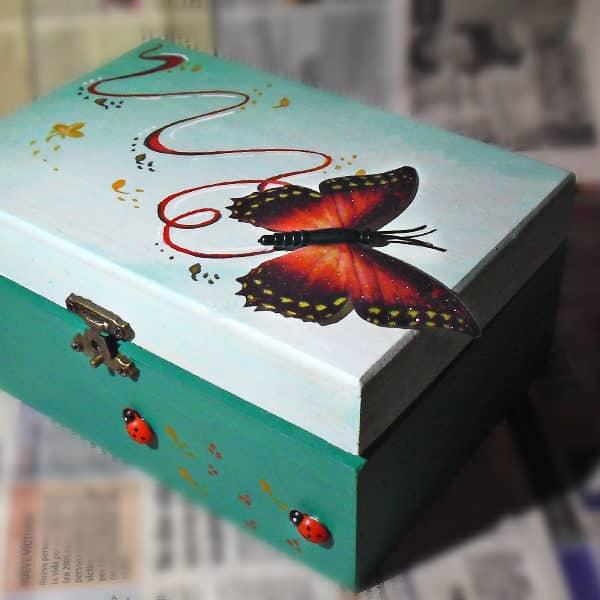 Diy Cajas De Madera Decoradas A Mano Lapiz Creativo Ilustracion