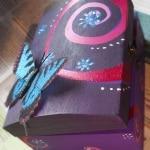 caja de madera - regalos pintados a mano - lápiz creativo