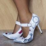 Zapatos decorados a mano - Zapatos de novia - Alicia en el país de las maravillas - lápiz creativo