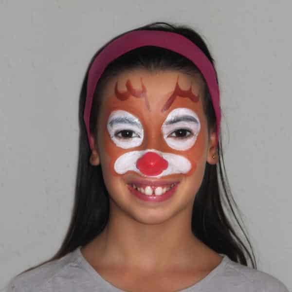 Maquillaje Navidad - alce - pintacaras - lápizcreativo