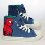 Zapatillas pintadas a mano - spiderman - lápiz creativo