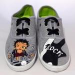 Dibujo Betty Boop zapatillas - Zapatillas personalizadas - lápiz creativo