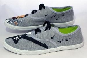 Dibujo Betty Boop zapatillas - zapatillas decoradas - lápiz creativo