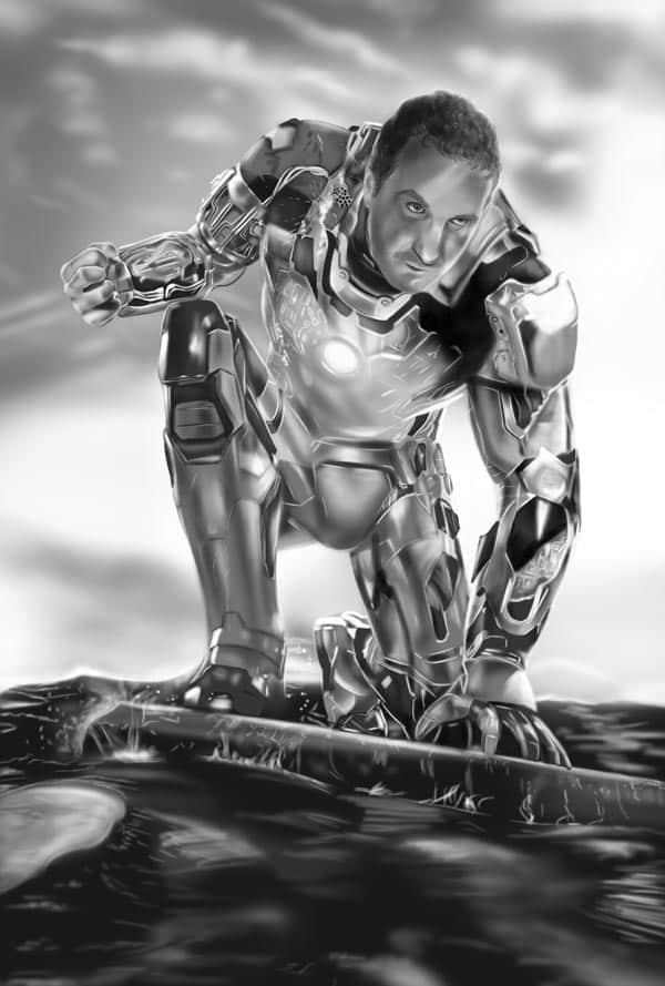 Autorretrato De Tu Superhéroe Favorito Iron Man Lápiz Creativo