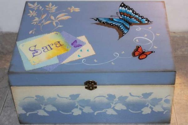 Decorar - chalk paint - caja pintada a mano - lápiz creativo
