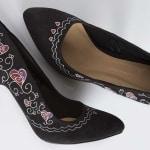 Customizar zapatos - Zapatos de noche pintados a mano - Tacones - lápiz creativo