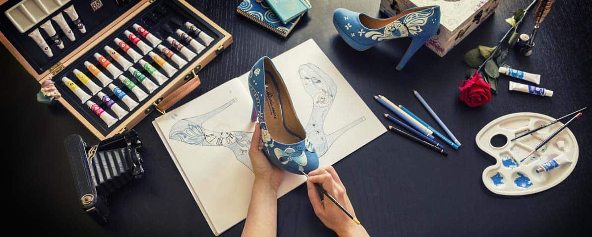 Zapatos pintados a mano - Handpainted Wedding Shoes - Disney Heels