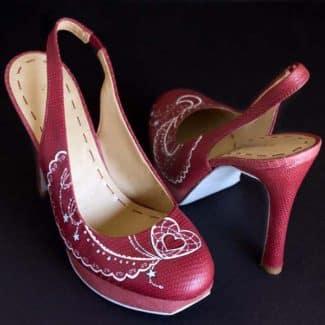 Renovar Zapatos _ Zapatos pintados a mano - lápiz creativo