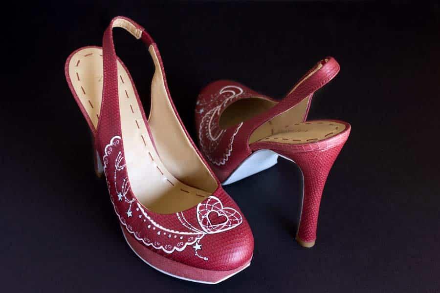 Renovar Zapatos _ Zapatos pintado a mano - lápiz creativo