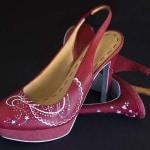 Zapatos de tacón - pintado a mano - lápiz creativo