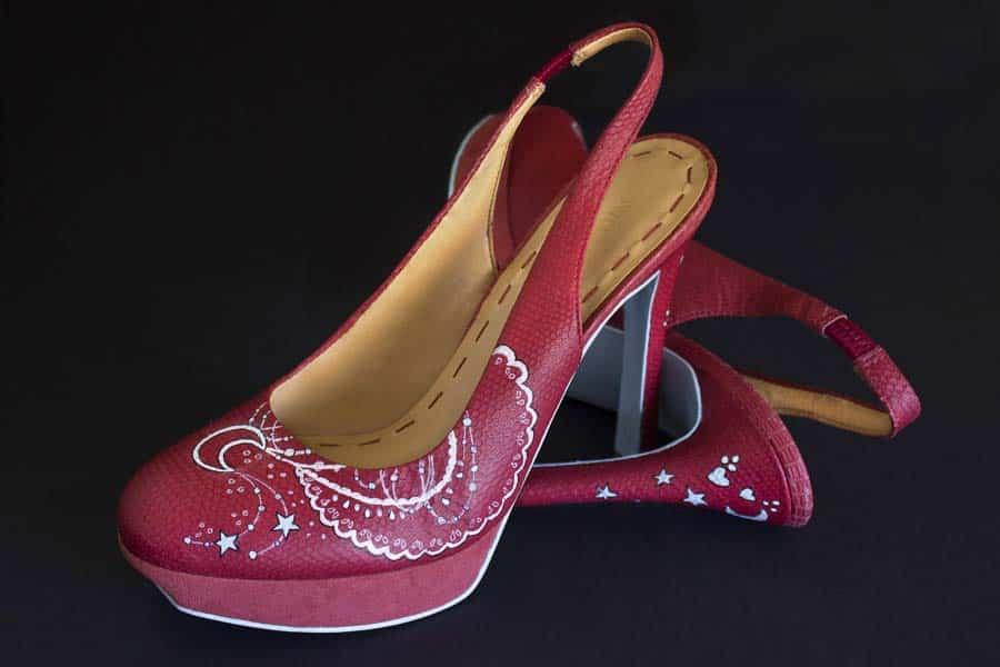 Renovar Zapatos de tacón - pintado a mano - lápiz creativo