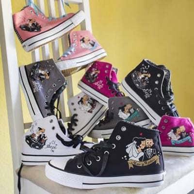 Zapatillas personalizadas - zapatillas de boda - lápiz creativo