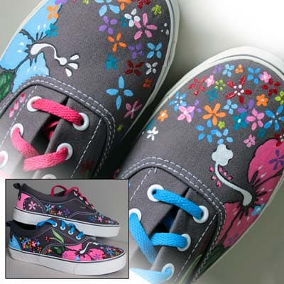 Zapatillas decoradas - lápiz creativo