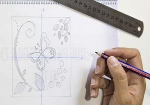 Papel de regalo - patrón - lápiz creativo