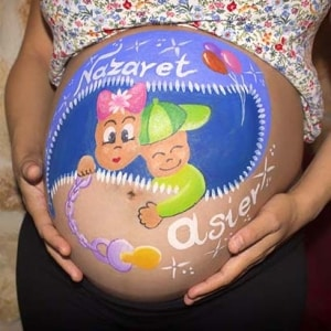 Pintura de embarazada - lápiz creativo