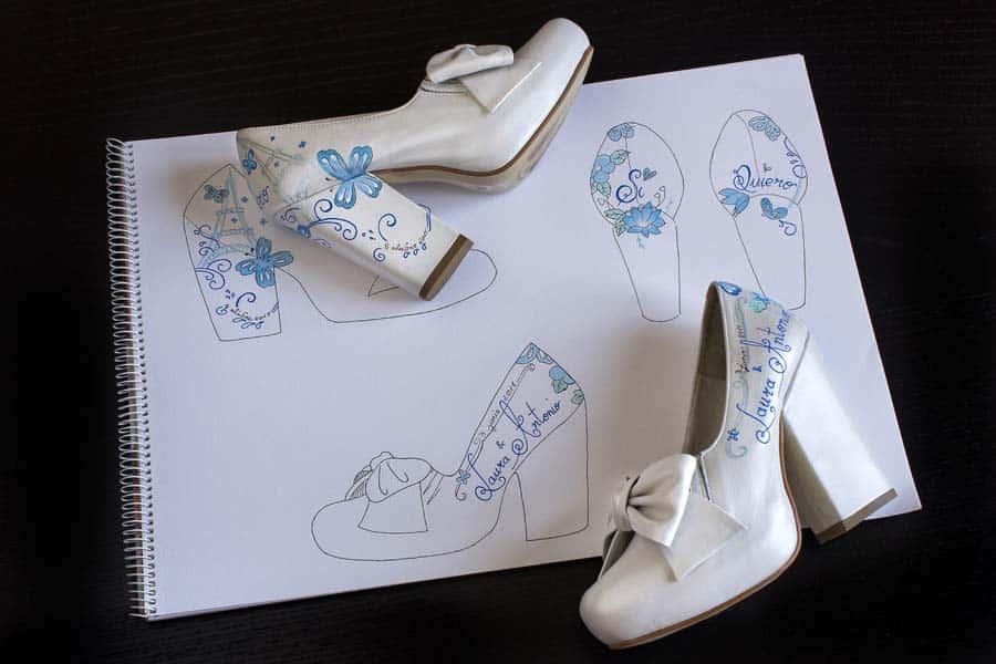 Zapatos de Boda Personalizados - Zapatos de novia - lápiz creativo