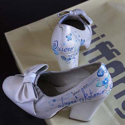 Zapatos de Boda Personalizados - lápiz creativo