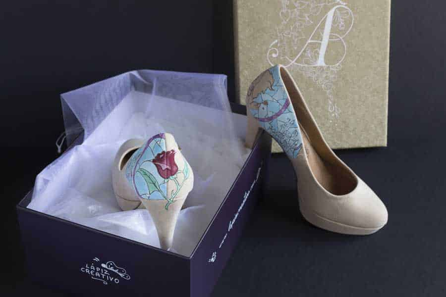 La Bella y la Bestia _ Beauty and the Beast _ Disney Heels - lapiz creativo