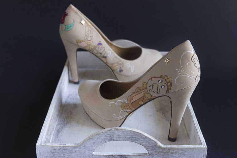 La Bella y la Bestia - Beauty and the Beast - Disney Heels - lápiz creativo
