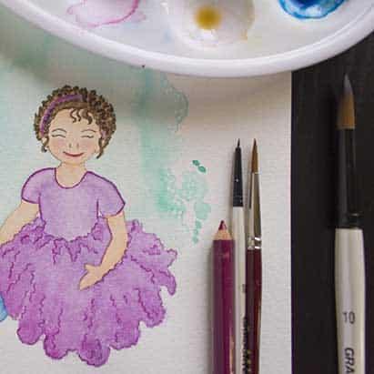 Lámina Personalizada - Retrato Acuarela - lápiz creativo