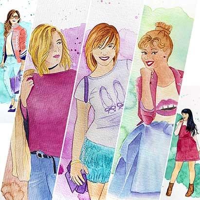 Bloggers de Moda convertidas en acuarelas _ Blogger de Moda