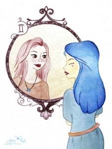 Ilustraciones - horóscopo - zodiaco - tauro - acuarelas - dibujos - revista moda - tendencias - fashion - blog de moda - Géminis - Lápiz Creativo