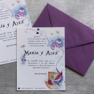 Invitaciones de Boda - Alice in Wonderland
