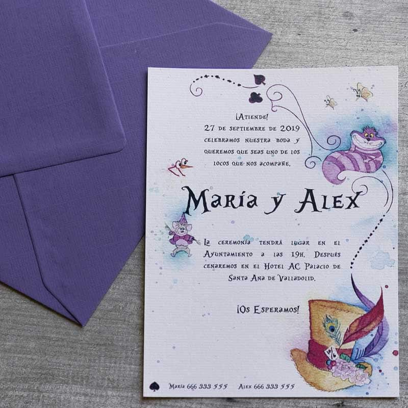 Invitaciones de Boda - Alice in Wonderland