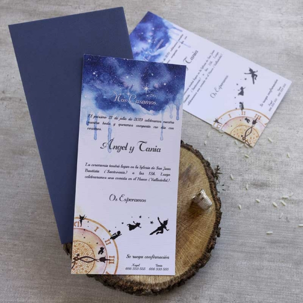 Invitaciones de boda - Peter Pan - Disney