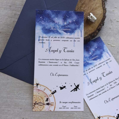 Invitaciones de boda - Peter Pan - Disney