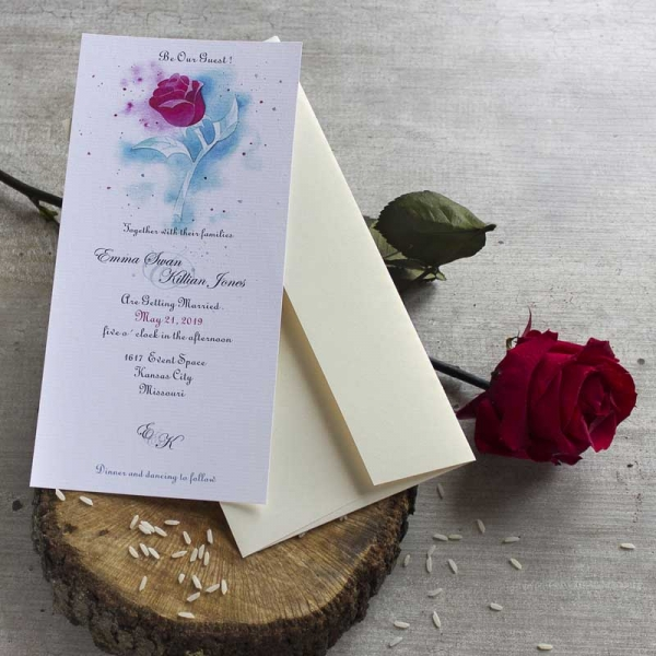 Invitaciones Disney - Beauty and the Beast -Tarjetas de Boda - Invitaciones para Bodas - Wedding - Save the date - LapizCreativo