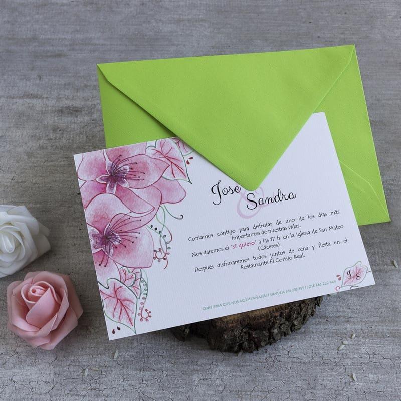 Invitaciones Florales - Invitaciones Ilustradas - Acuarelas - Tarjetas de Boda - Invitaciones para Bodas - Wedding - Flores - Save the date - LapizCreativo.