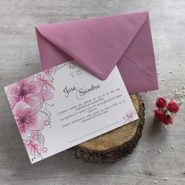 Invitaciones Florales - Invitaciones Ilustradas - Acuarelas - Tarjetas de Boda - Invitaciones para Bodas - Wedding - Save the date - LapizCreativo.
