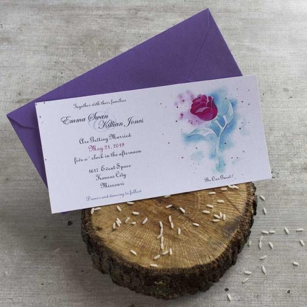 Invitaciones - La Bella y la Bestia - Disney - Tarjetas de Boda - Invitaciones para Bodas - Wedding - Save the date - LapizCreativo