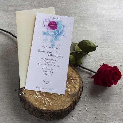 Bodas disney - Invitaciones de boda - La bella y la bestia - Lapiz craetivo