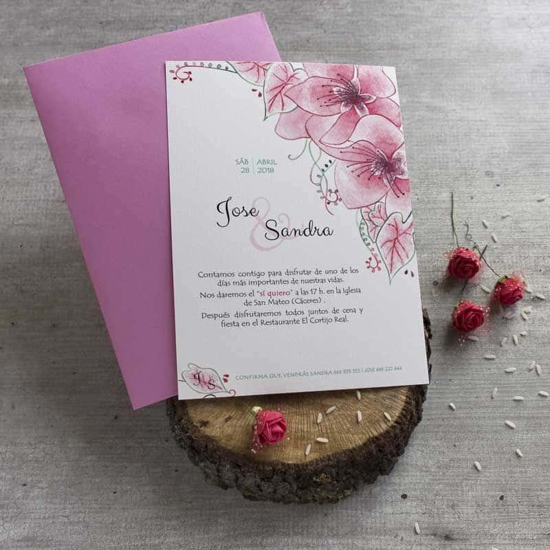 Invitaciones de boda tarjetas de boda originales l piz - Tarjetas de invitacion de boda originales ...