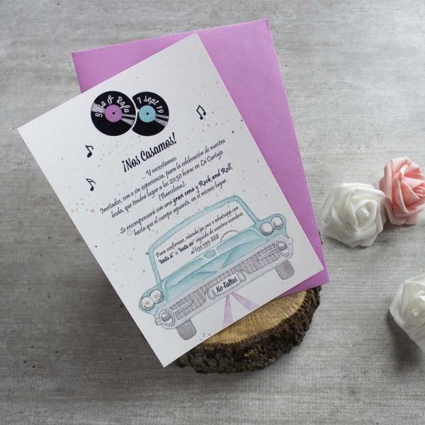 Invitaciones - Tarjetas de Boda - Invitaciones para Bodas - Wedding - Invitaciones VIntage - Save the date - LapizCreativo