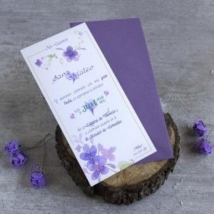 Invitaciones de Boda - Violetas
