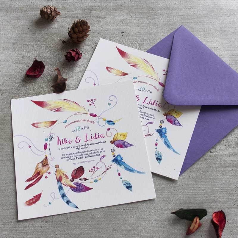 Invitaciones de boda tarjetas de boda originales l piz - Disenos tarjetas de boda ...