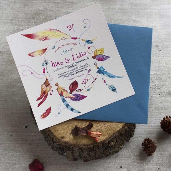 Invitaciones - Vintage - Boho - Indie -Tarjetas de Boda - Invitaciones para Bodas - Wedding - Save the date - LapizCreativo