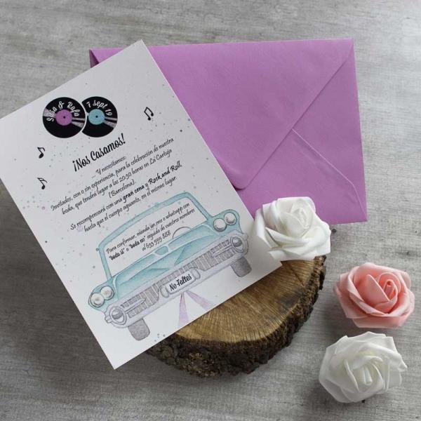 Invitaciones Vintage- Tarjetas de Boda - Invitaciones para Bodas - Wedding - Invitaciones VIntage - Save the date - LapizCreativo
