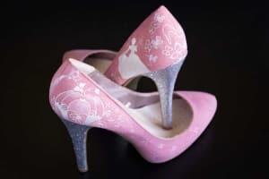 Boda Disney - Cinderella shoes - Zapatos pintados a mano - Zapatos de Boda cenicienta- Zapatos de novia - Lapiz Creativo