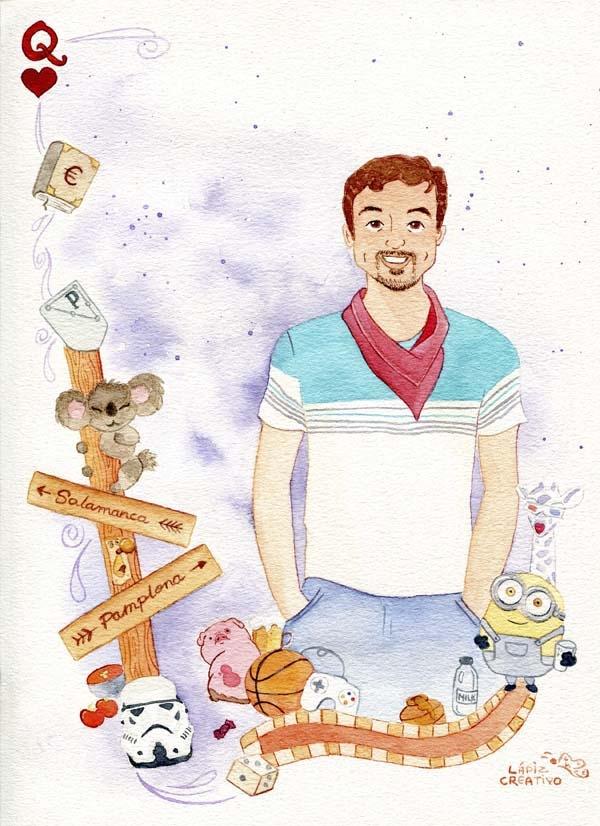 Regalo personalizado para mi novio - Ilustraciones Personalizadas