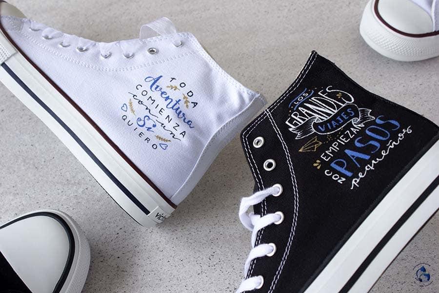 Regalos para novios _ zapatillas personalizadas _ frases decoradas _ lapizcreativo