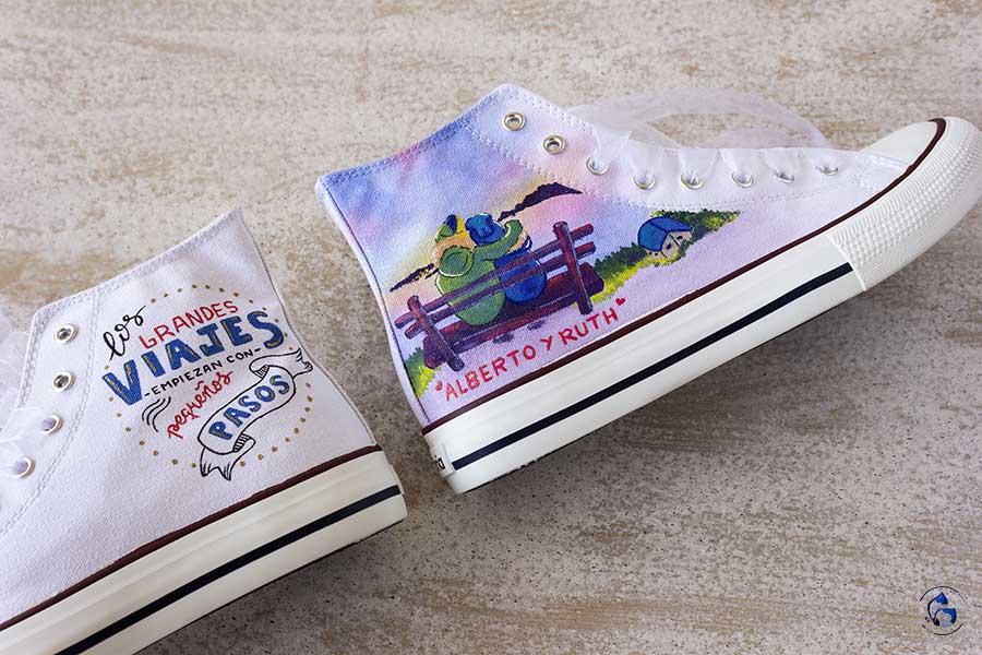 Zapatillas personalizadas - regalo novia - regalos de boda - zapatillas de novia - LapizCreativo