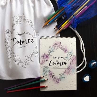 Cuaderno de Dibujos para Colorear - Libro para Colorear - Imagina y Colorea