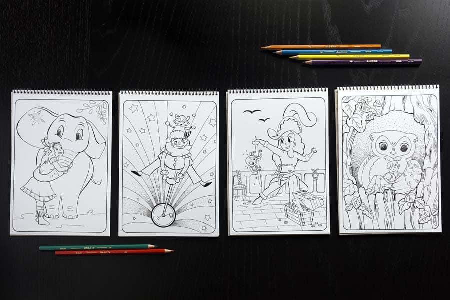 Cuaderno de Dibujos para Colorear - Libro para Colorear